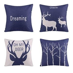 LIMITED Pack of 4  Deer Series Throw Pillow Covers